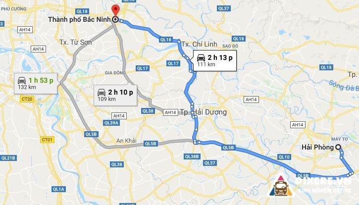 Tu Hai Phong Di Bac Ninh 3